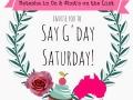 Say GDay Saturday