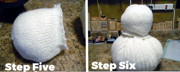 Frosty the Snowman Tutorial Steps Five and Six