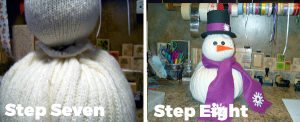 Frosty the Snowman Tutorial Steps Seven and Eight