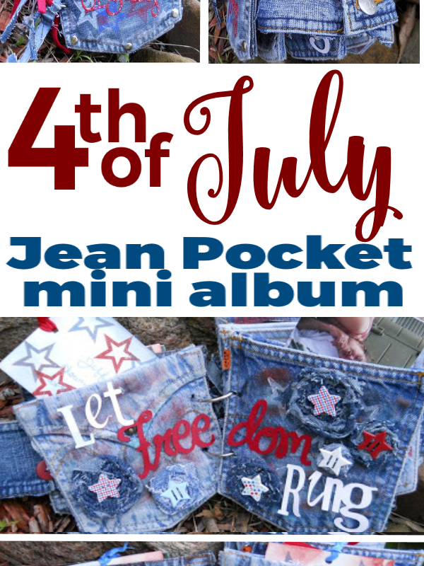 Jean Pocket Album for the 4th of July