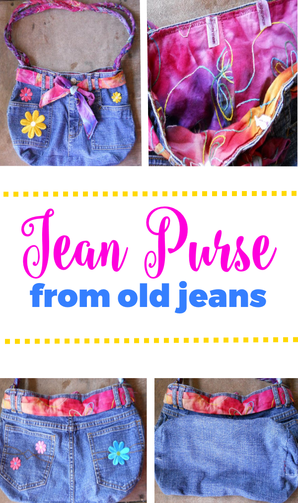 Jean Purse from Old Jeans