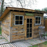 Pallet Shed with Tin Can Roof