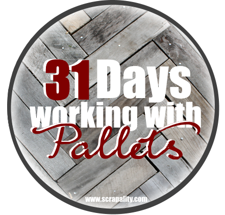 31 Days Working With Pallets Button