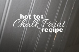 Chalk Paint Recipe and Kitchen Update