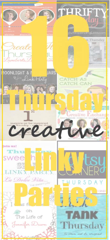 16 Thursday Creative LInky Parties