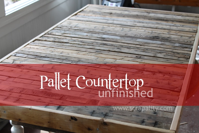pallet countertop unfinished