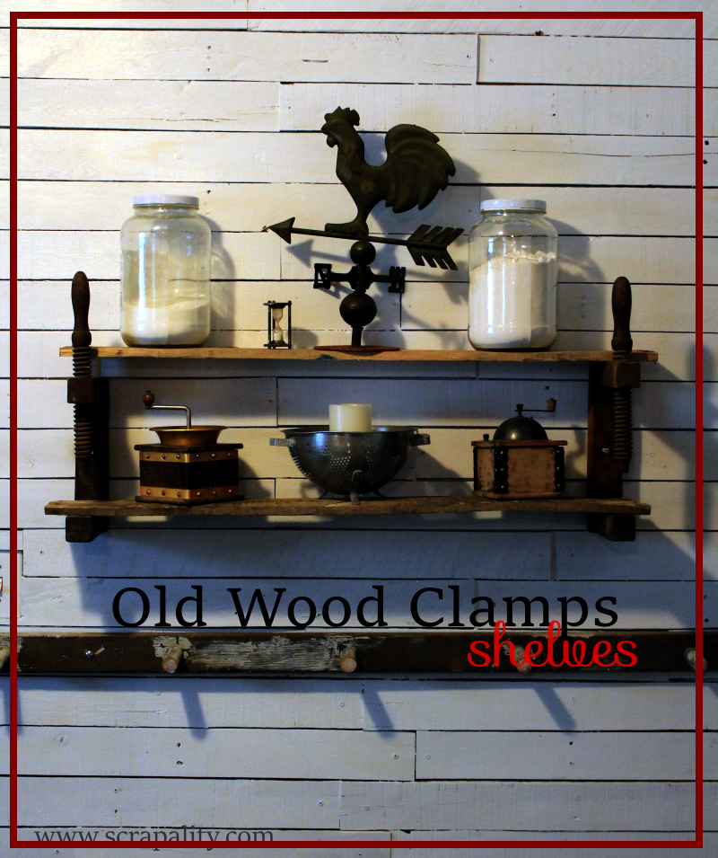 Old Wood Clamp Shelves