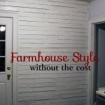 Pallet Farmhouse Style Planked Wall