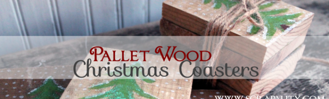 Pallet Wood Christmas Coasters4