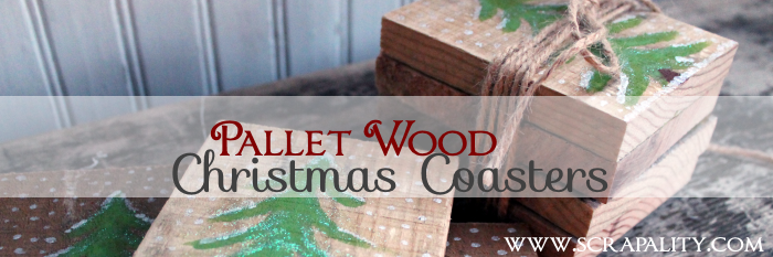 Pallet Wood Rustic Christmas Coasters