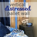 Vertical Distressed Pallet Wall