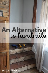 An Alternative to Adding Handrails to a Staircase