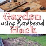 Garden Hack using cardboard