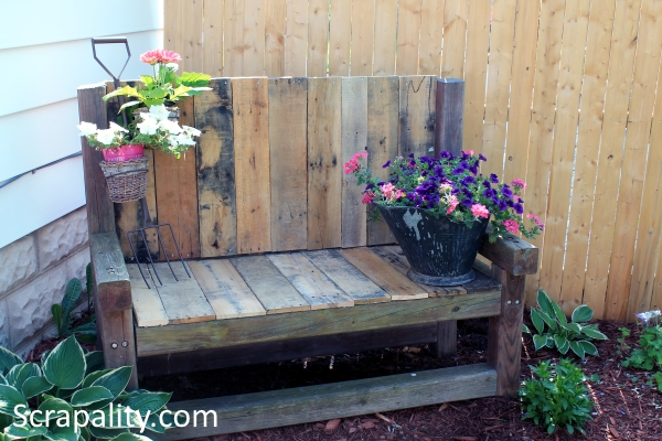 Add Reclaimed Wood to Old Tired Outdoor Bench