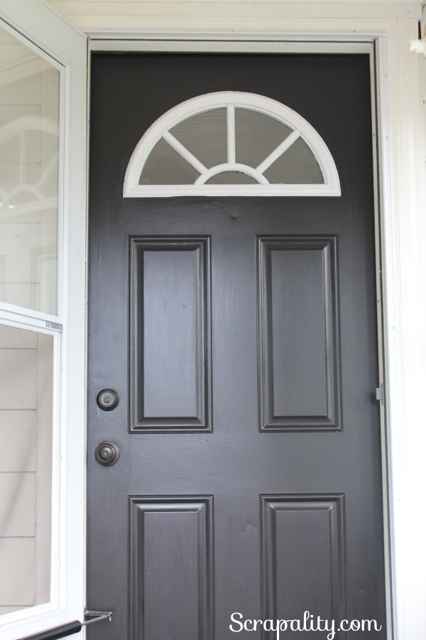 Paint the Front Door Before and After