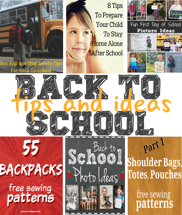 Back To School Tips and Ideas