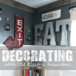 Decorating with Old Electric Insulators