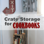 Crate Storage for Cookbooks
