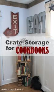 Crate Storage for Cookbooks
