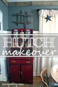Dining Room Hutch Chalk Paint Makeover
