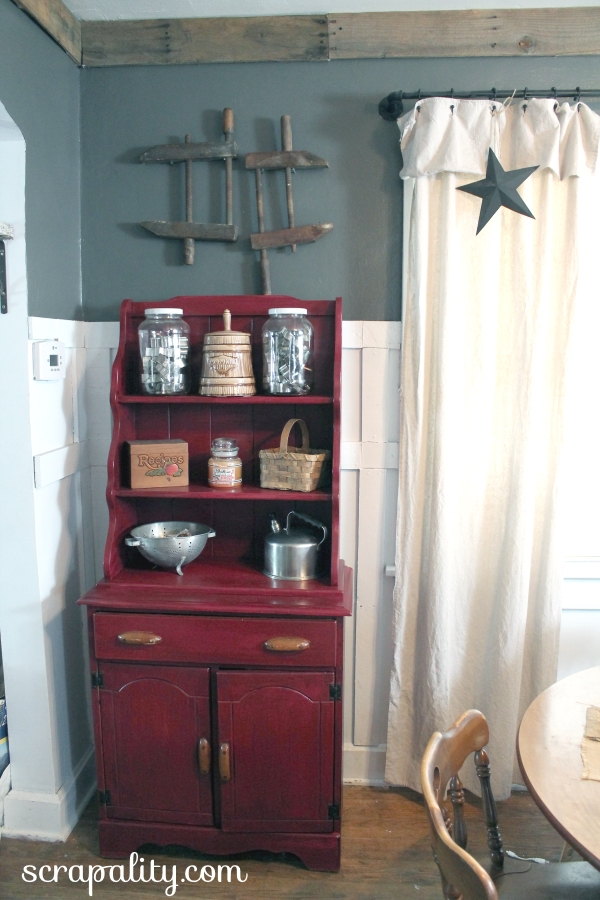 hutch makeover and new paint color