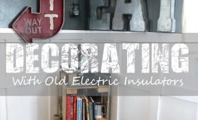old electric insulators