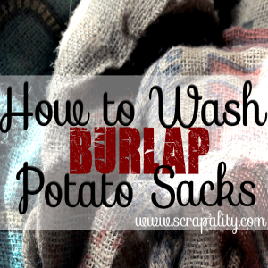 How to Wash Burlap Potato Sacks