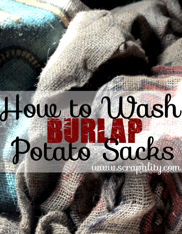 How to Wash Bulap Potato Sacks