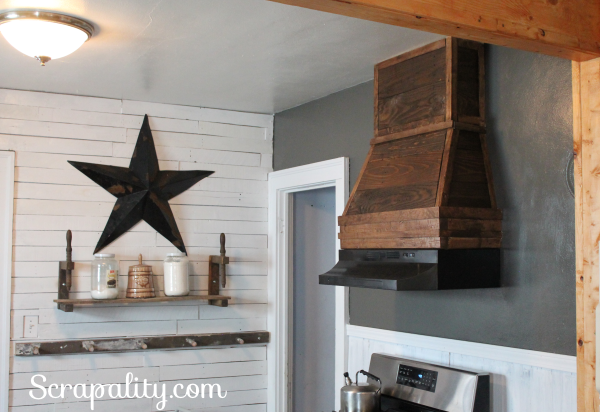 Rustic Range Hood Using Pallet Wood 2015