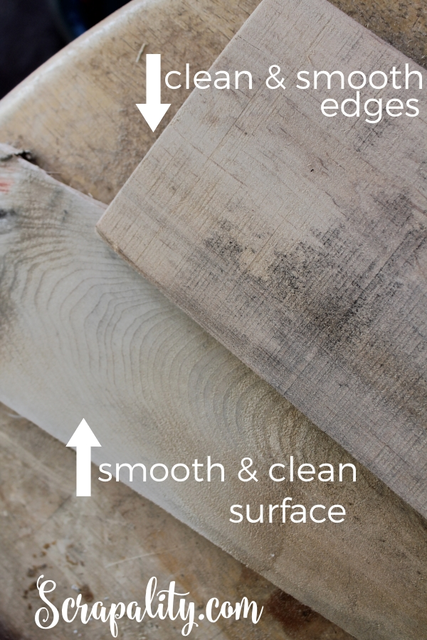 Sanding Pallet Wood Difference