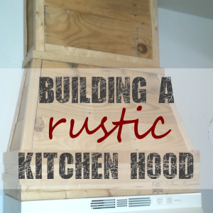 Building a Frame for the Rustic Pallet Kitchen Hood