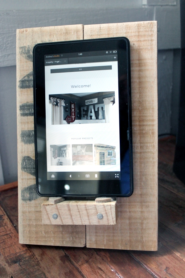 How to Build a Rustic Tablet Stand with Tablet