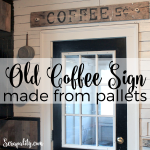 Old Coffee Sign Made From Pallets