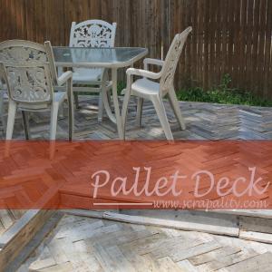 Herringbone Pallet Deck