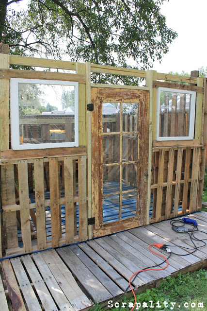 Pallet Shed Door and Windows