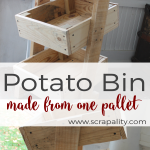 Rustic Potato Bin Made Using One Pallet