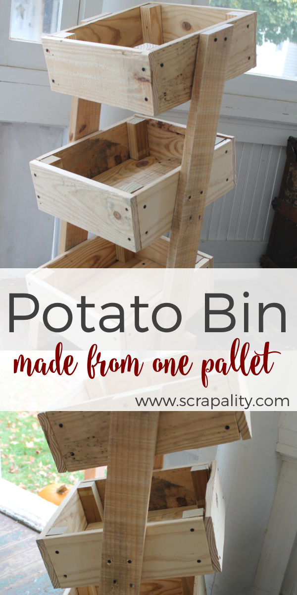 Potato Bin Made from One Pallet