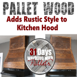 Rustic Pallet Kitchen Hood