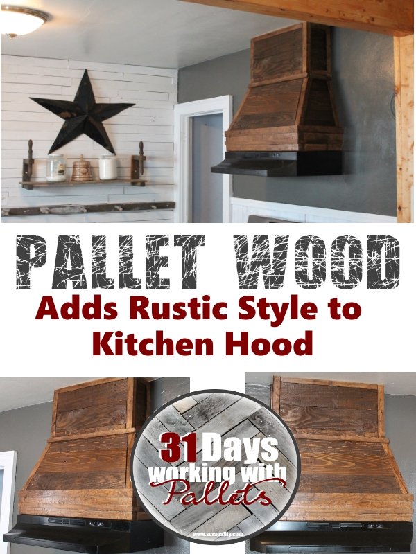 Pallet Hood Adds Rustic Style to Kitchen Hood