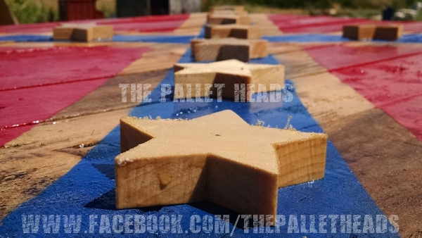 The Pallet Heads Co Love FLAG