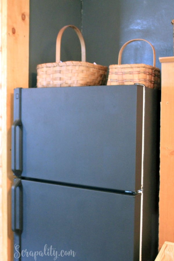 Chalk Paint Refrigerator with ChalkOla Markers Paint