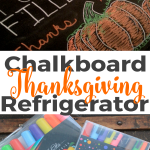 Chalk Paint Refrigerator with ChalkOla Markers Thanksgiving