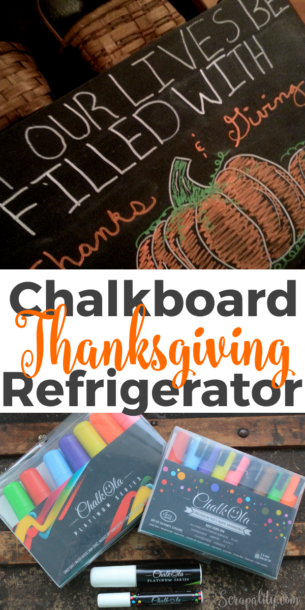 Chalk Paint Refrigerator with ChalkOla Markers