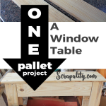 Pallet Table Made from One Pallet