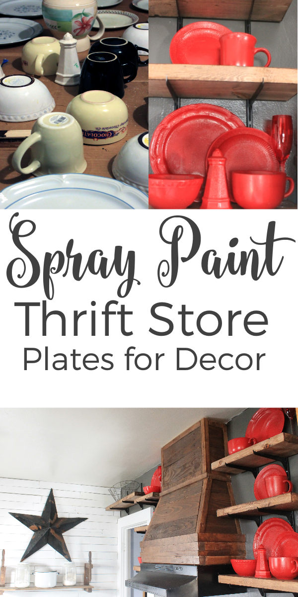 Spray Paint Plates for Kitchen Decor