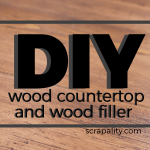 DIY Wood Countertop Wood Filler for the Kitchen