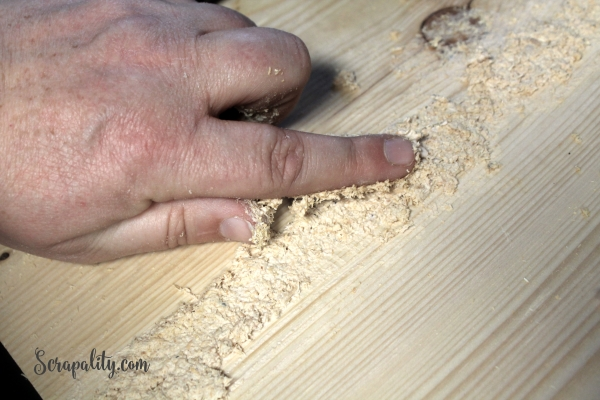 DIY Wood Countertop and Wood Filler