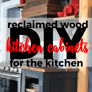 Reclaimed Wood Kitchen Cabinets for the Kitchen
