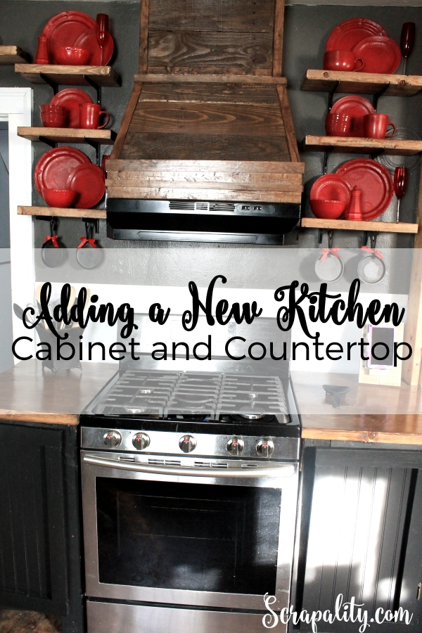 Adding A New Cabinet And Countertop To The Kitchen Made From