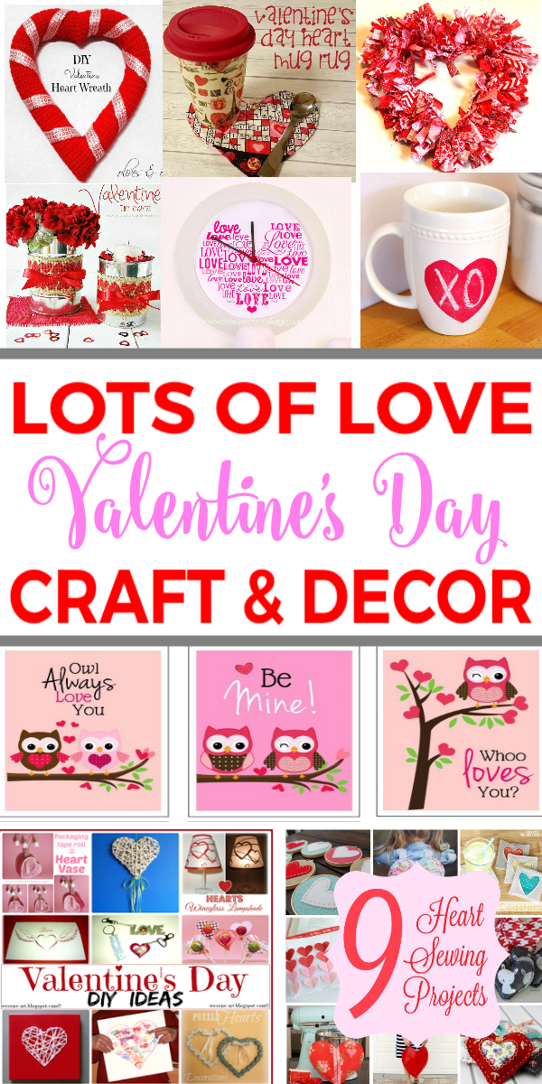 Lots of Love Valentines Day Crafts and Decor Ideas